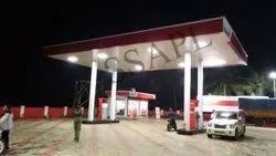 White MS Structure Petrol Station Canopies