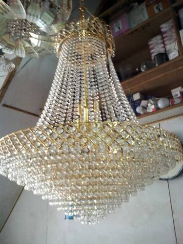 Hanging crystal chandeliers a one glass emporium manufacturer in hanging crystal chandeliers aloadofball Choice Image