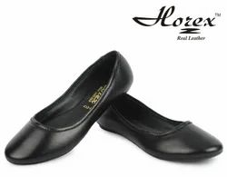 Uniform Genuine Leather Women's Black Belly Shoes