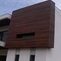 Facade Exterior Wall Cladding at Rs 450 /square feet | Wooden ...