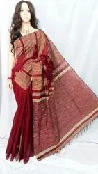 Cotton silk gheecha temple handloom saree