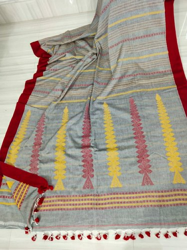 6.3 m (with blouse piece) Casual Khadi kolakhetro saree