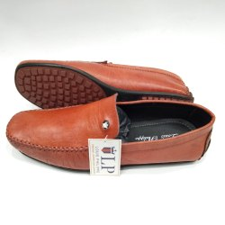 Red Genuine Leather Loafers