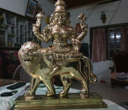 Bronze Hand Crafted Durga Mata