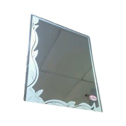 Glass Wall Mounted Rectangular Bathroom Mirrors, Packaging Type: Box