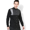 Mens Black and Grey Clubwear Shirt