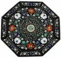 Marble Stone Inlay Round Plate