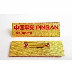 Metal Rectangle Pin Badge