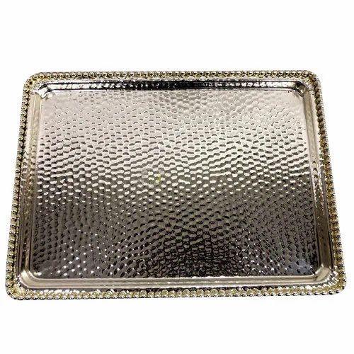 German Silver Tray Shape Rectangle Rs 900 Piece Ratna Raj Id 20410733955