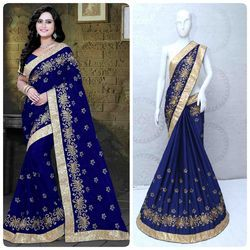 Chinon Silk Designer Saree