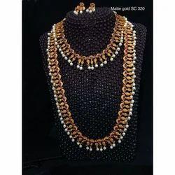 Matte Gold Imitation Jewelry