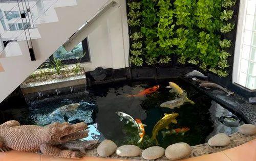 Transparent Glass Designer Indoor Fish Pond Packaging Type Box Rs 78000 Unit Id 22127951655