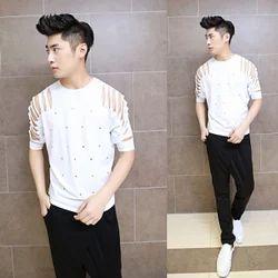 Korean Fashion Men S T Shirt At Rs 450 Piece म न स र उ ड न क ट शर ट Blueberry Bhiwandi Id 16890311455