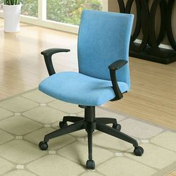 Low Back Blue Cushion Chairs