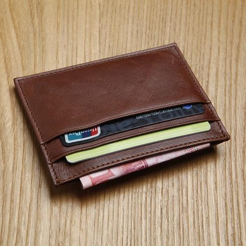 5d26a1d4f2b91 Brown Leather Mens Card Holder