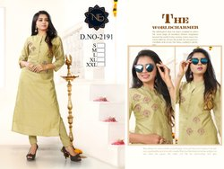 Chanderi Cotton Handwork Kurtis