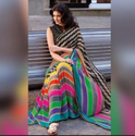 Bollywood Style Multicolor Saree