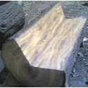 FRP Round Wood Bench