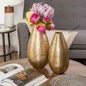 Metal Aluminium Flower pot For decor