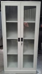 SLV Double Door Full Glass Door Cupboard, for Office