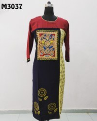 Embroidered Designer Cotton Kurti