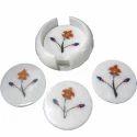 Beautiful Marble Inlay Tea Coasters