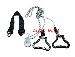 Albio Overhead Hand Shoulder Pulley Equipment Kit With Rope For Home Gym Exercise & Physical Therapy