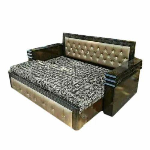 Astonishing Polished Wooden Sofa Cum Bed Ibusinesslaw Wood Chair Design Ideas Ibusinesslaworg