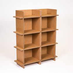 Kraft Paper Corrugated Double Shelf
