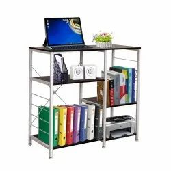 Computer Desk Writing Study Table with 3 x 3 Tier Bookshelves for Home, Office, Gaming Desk