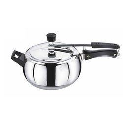 Shefali Silver Handi Shape Pressure Cooker, Capacity: 3l