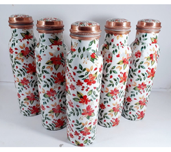 High Quality Print Copper Bottle