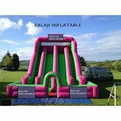 4 Lane Sliding Inflatable Castle For Kids