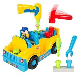 Multicolor Little Mechanic Tool Truck, 360 Degree Motion with Functioning, for Personal