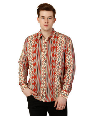 65a2f0ab0 ... Clothing   Mens Casual Shirt   Mens Printed Shirt. Oxolloxo Men Printed  Shirt