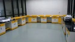 Side Wall Lab Table