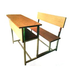 Wooden School Desk Set