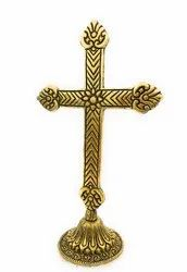 Bharat Handicrafts Gold Plated Cross Christian Gift Item