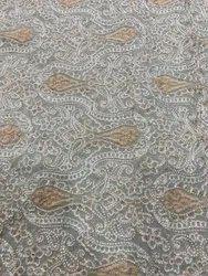 Chain Stitch Embroidery Dupion Fabric