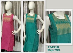 13431 Silk Kurta With Embroidery