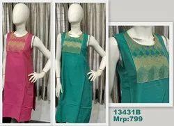 13431 Silk Kurta With Embroidery