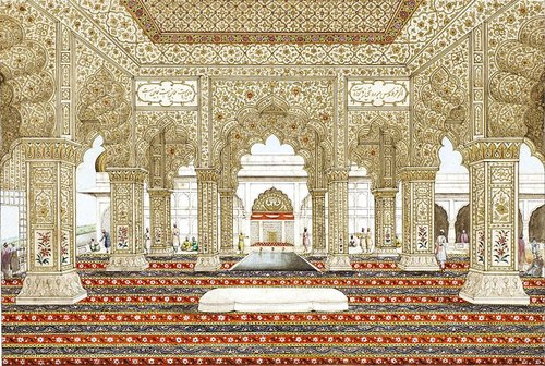 Gautamdecor Stone Finished Mosque Interior Fiberglass Decorations