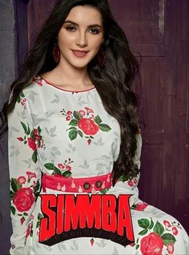 Multicolor Full Sleeve Georgette Anarkali Party Wear Kurti, Size: M L XL XXL, Machine wash