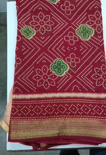 Festive Wear Napthol Printing Cotton Sarees, Length: 5.5 m (Separate Blouse Piece)