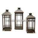 Antique Look Decorative Lantern Set Of 3