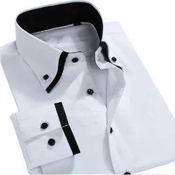 Mens Cotton Plain Party Wear Shirt