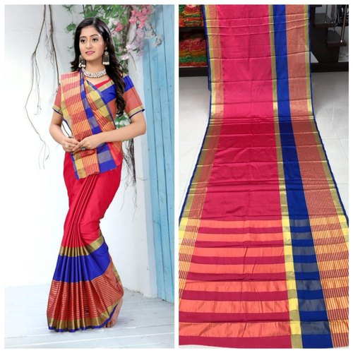 826ea20cf5 Bridal Wear Printed Soft Cotton Silk Saree With Blouse Piece, Rs 350 ...