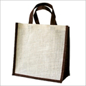 Unprinted Jute Bag With Short Self Handle