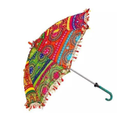 Hand Embroidery 1 Rajasthani Umbrella, For Decoration, Size/dimension: 24 X 28 Inch