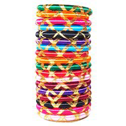 Multicolored Indian Silk Thread Bangles
